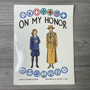 Vintage Girl Scouts on my honor paper doll book
